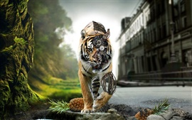 Preview wallpaper Tiger robot