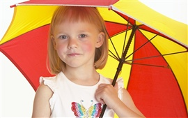 Umbrella of the cute little girl