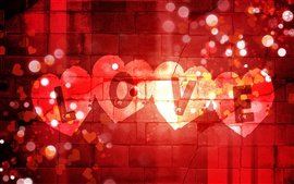 Preview wallpaper Valentine's Day love to write on the wall