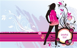 Preview wallpaper Vector girl fashion