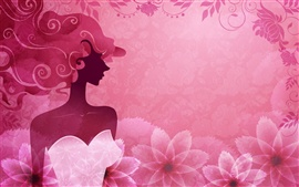 Preview wallpaper Vector woman pink stylish