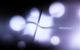 Preview wallpaper Windows 7 logo light flashing purple