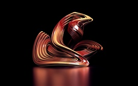 Preview wallpaper 3D abstract curve
