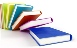 Preview wallpaper 3D colorful cover of the books