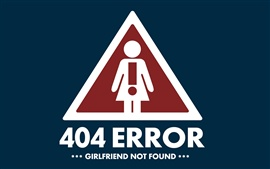 Preview wallpaper 404 Error Girlfriend not found
