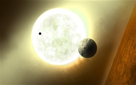 A distant star system