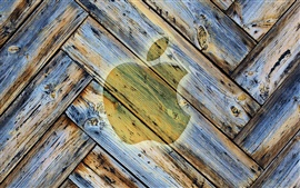 Preview wallpaper Apple wood background