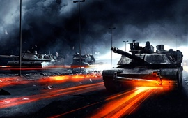 Preview wallpaper Battlefield 3 tanks