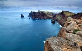 미리보기 배경 화면 아름다운 해안 풍경
