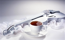 Preview wallpaper Coffee and violin
