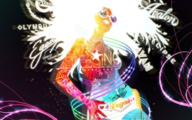 Preview wallpaper Colorful abstract female
