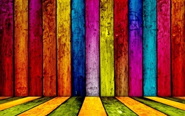 Colorful wooden abstract
