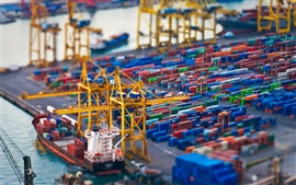 Preview wallpaper Container port photography