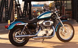 Preview wallpaper Harley-Davidson motorcycle under the golden sun