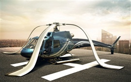 Preview wallpaper Helicopter blades drooping