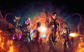 Preview wallpaper Mass Effect 3 CG girls