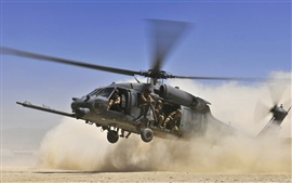 Preview wallpaper Military helicopter are landing