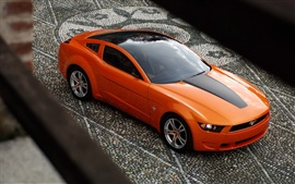 Preview wallpaper Mustang orange car