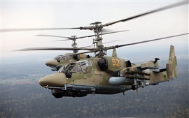 Preview wallpaper The Ka-52 helicopter flight