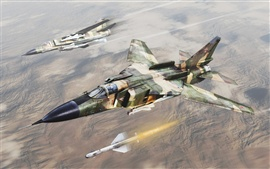 Preview wallpaper The aircraft fired missiles