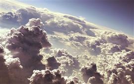 미리보기 배경 화면 하늘의 먹구름