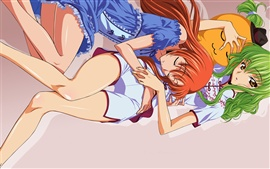 Preview wallpaper The two anime girl sleeping