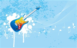 Preview wallpaper Vector guitar music