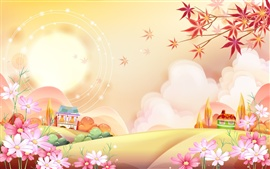 Preview wallpaper Vector illustration landscape