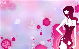 Preview wallpaper Vector stylish urban girl purple