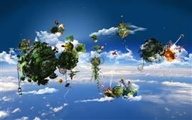 壁紙のプレビュー 素晴らしい創造的な空気生態ホーム