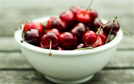 Preview wallpaper A bowl of delicious red cherry