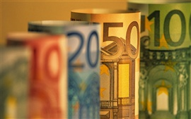 Preview wallpaper Euro currency macro