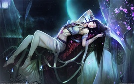 Fantasy sakura girl