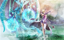 Preview wallpaper Girl magician magic water