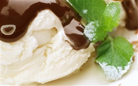 Ice cream dessert chocolate mint