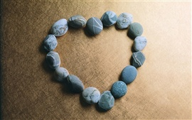 Love heart-shaped stone