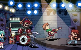 Preview wallpaper Scott Pilgrim cartoon