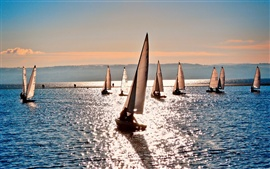 Preview wallpaper Sea water sailboat summer