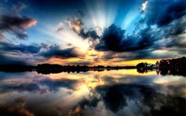 ciel coucher de soleil