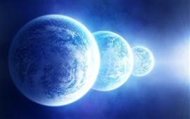Три голубой планеты