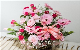 Preview wallpaper A basket of flowers gerbera