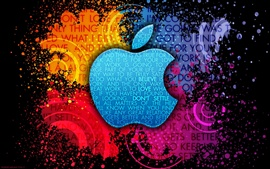 Apple Colorful background creative logo