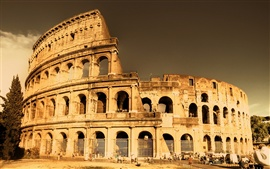 Preview wallpaper Architectural landscape of the Roman Colosseum