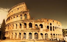 Paisagem arquitectónica do Coliseu de Roma
