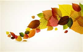 Preview wallpaper Autumn leaves vector creative