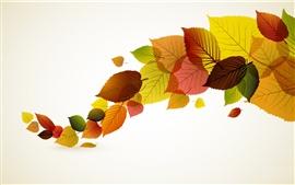 Осенние листья вектор творческого