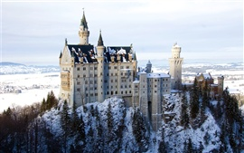 Preview wallpaper Bavaria castle winter snow