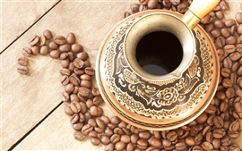 Preview wallpaper Coffee drinks and coffee beans