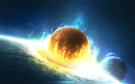 Disaster doomsday planet collision Wallpapers Pictures Photos Images