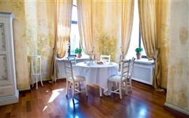 Ambiente acolhedora sala de jantar